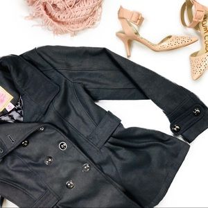Pink envelope double breasted peacoat 💗